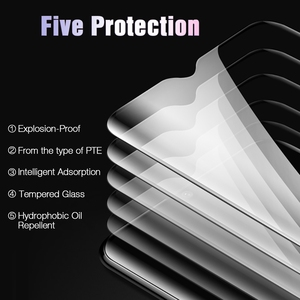 Image 5 - TOMKAS 6D/5D Protective Glass For Oneplus 7T Tempered Glass Screen Protector Film For Oneplus 7 6 5 5T Protective Glass One Plus