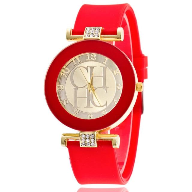2018 New simple leather Brand Geneva Casual Quartz Watch Women Crystal Silicone Watches Relogio Feminino Wrist Watch Hot sale