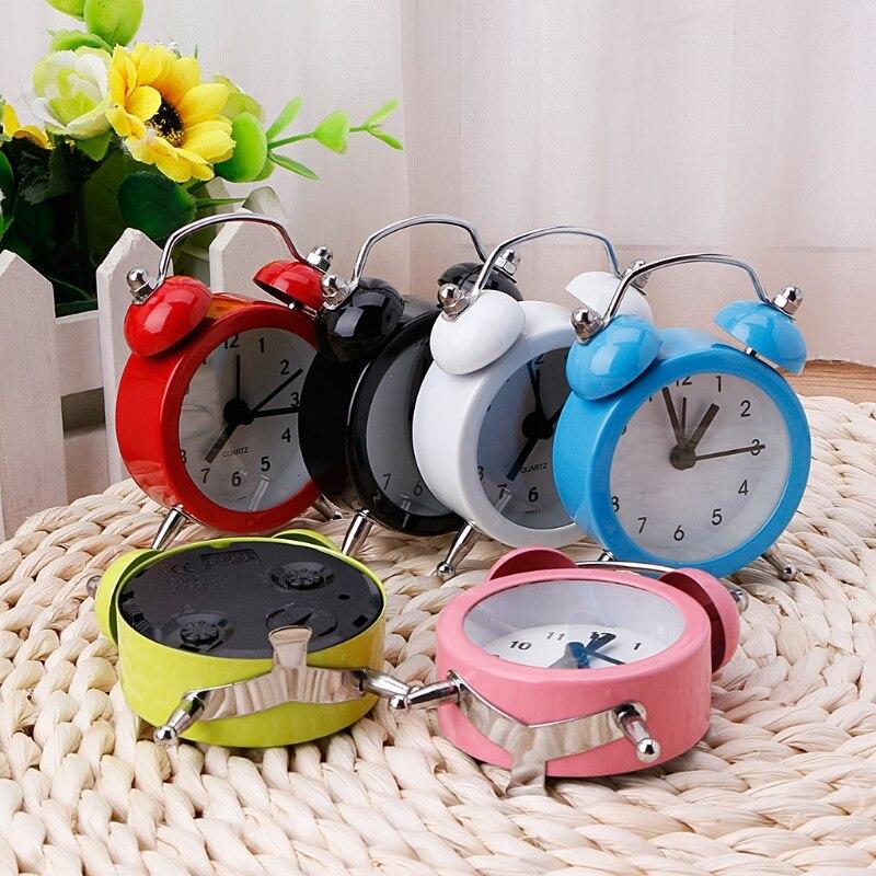 Retro Household Alarm Clock Round Number Double Bell Desk Table Digital Clock Home Decor|alarm clock|digital clock|table digital clock - title=