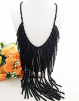 Black Crystal 23 Big Necklace