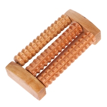 Wooden Foot Massage Roller Feet Plantar Fasciitis Reflexology Manual