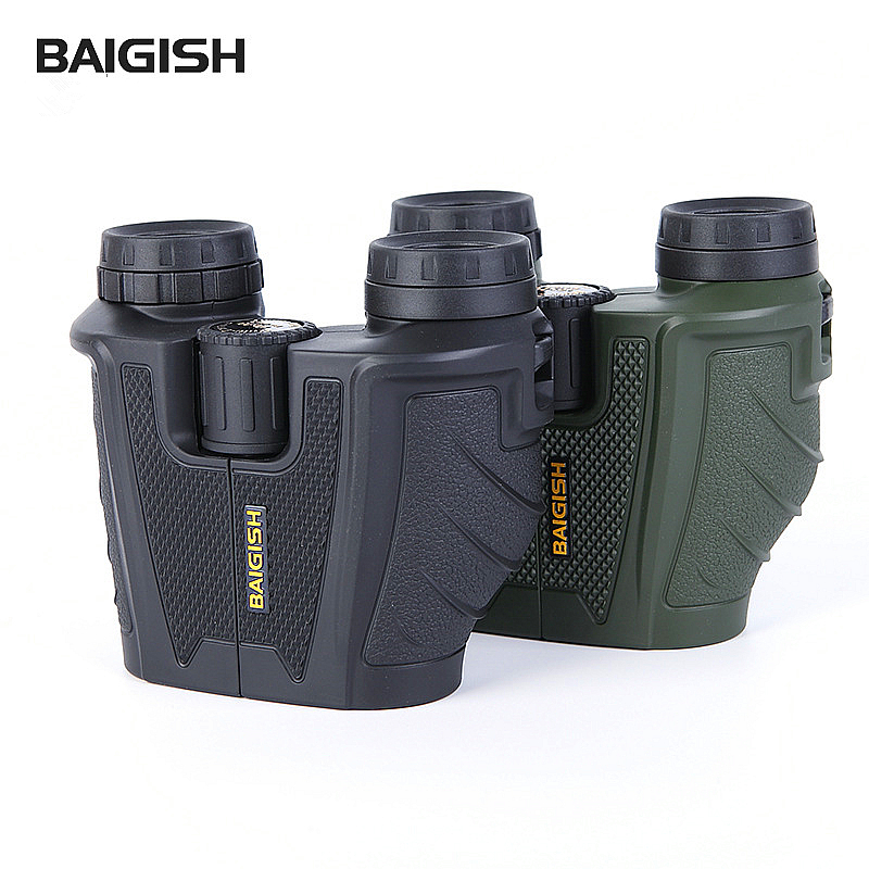 ФОТО Russian Binoculars Baigish 10x25 Compact Binocular Professional For Travel Outdoor Adventure Portable Bak4 Telescope Powerful