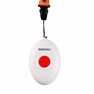 Image 3 - SINGCALL Wireless Nursing System, Medical Call Pager, Panic Button, Oval Rounded Shape Bell with the Necklace APE160