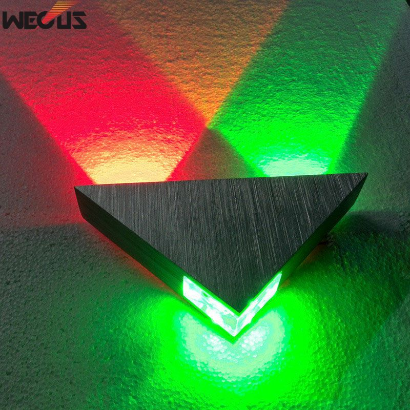 Modern Led Wall Lamp 3W Aluminum Body Triangle Wall Light For Bedroom Home Lighting Luminaire Bathroom Light Fixture Wall SconceModern Led Wall Lamp 3W Aluminum Body Triangle Wall Light For Bedroom Home Lighting Luminaire Bathroom Light Fixture Wall Sconce