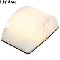 LightMe Rechargeable Book Lamp Folding Mini Table Light Warm White LED Wooden USB Desk Night Lamp Bedroom Decor Lighting