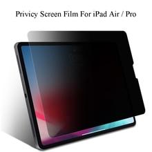 Anti Spy temperli cam ekran koruyucu için iPad Pro 11 12.9 2018 siyah gizlilik camı Film için iPad Pro 10.5 hava 3 2019