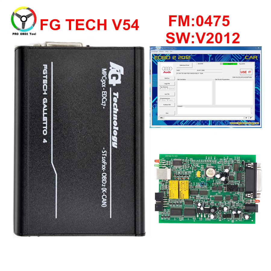 2017 Online Master EU 0475 FGTech V54 Galletto 4 Support BDM Full Function Fg Tech V54 Auto ECU Chip Tuning OBD FG-TECH