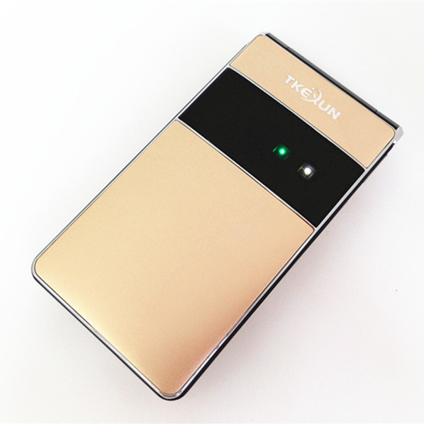 Original TKEXUN T01  Keyboard 2.8'' Touch Screen Luxury Gold Flip Mobile Phone Old Man Cell Phone Russian Language H-mobile  T01