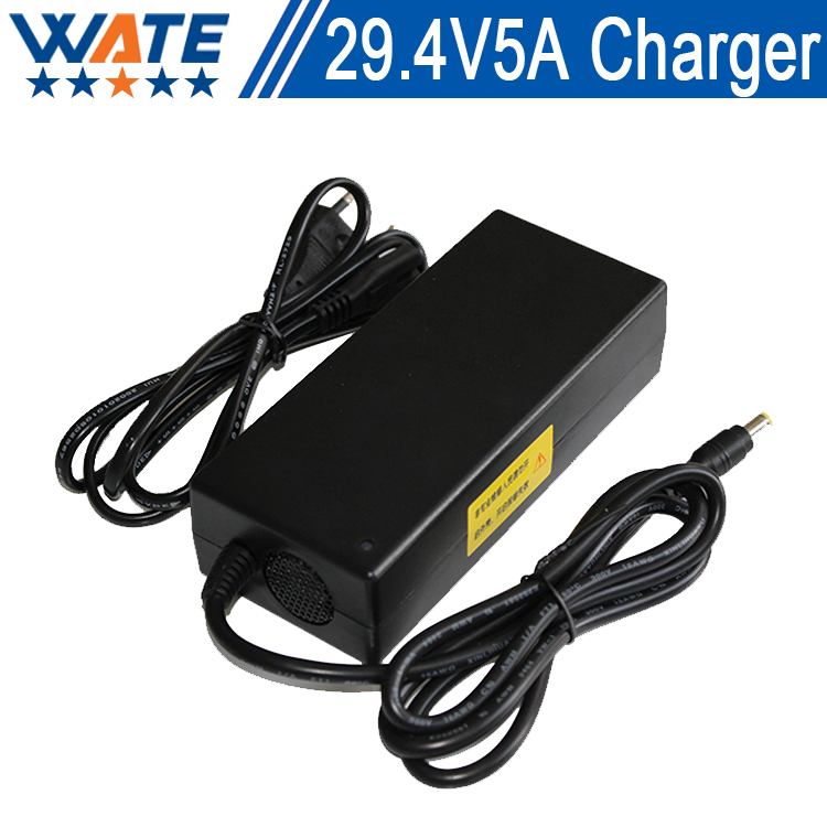 Free shipping 29.4V 5A DC Li-ion battery charger Output 29.4V 5A charger Used for 24V 7S lithium battery charging