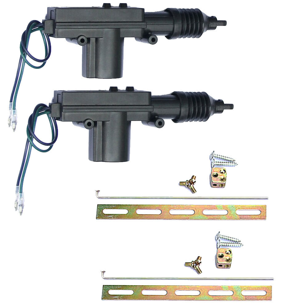EE support quality 2 Sets car door lock actuator 2-Wires Car Locking System  Single