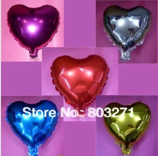 50pcs Aluminum balloon  love heart weddings,party,holidays decoration  balloons 10 inches -free shippin