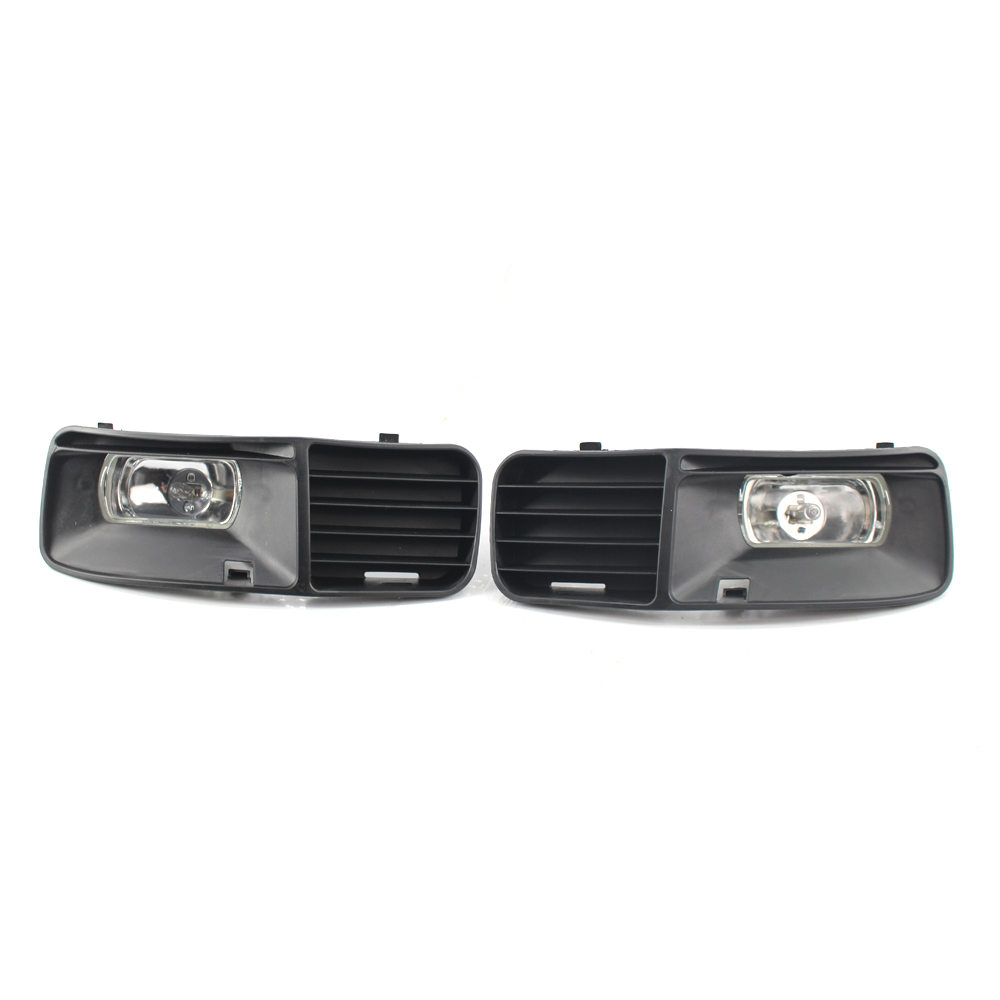 SUGERYY 1 PAIR FRONT BUMPER  FOG LIGHT OPEN VENT GRILL GRILLE For VOLKSWAGEN VW POLO 1997 CAR STYLING front bumper convex lens fog light for vw touran 1t1 1t2 l 1t0941699 r 1t0941700 foglamps
