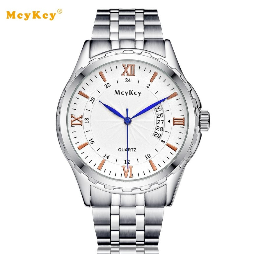 McyKcy watches women fashion watch 2017 waterproof 50m Stainless steel Quartz WristWatch erkek kol saati Drop shipping #YH julius quartz watch ladies bracelet watches relogio feminino erkek kol saati dress stainless steel alloy silver black blue pink