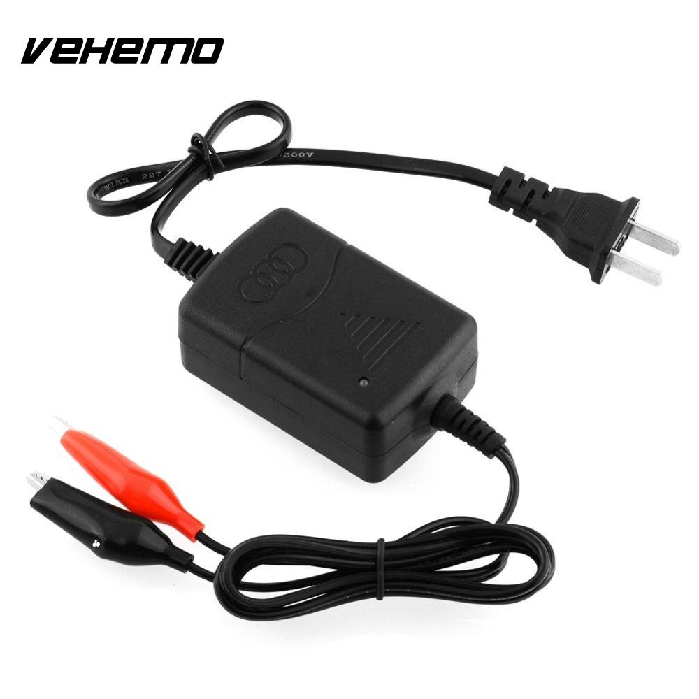 OEM Black Car Truck Motorcycle Compact Battery Charger Tender Maintainer