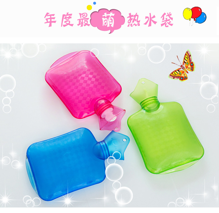 Thick pvc warm hand  palace explosion - proof baby water bottle hot water - filled  water bag electric heating belt hot water bag combo warm hands treasure flannel explosion proof belt charging plug