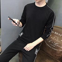 2017Brand Men S Sport Quality Sets Tow Pieces Teenagers Students Sportswear Youth Big Size 4xl Cotton