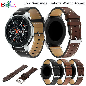 Genuine Watchband Replacement Classic Leather Wrist Strap band For Samsung Galaxy Watch 46mm SM-R800 Smart Watch Band Wristband sport soft silicone bracelet wrist band for samsung galaxy watch 42mm sm r810 replacement smart watch strap wristband watchband