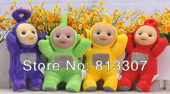 "Teletubby Plush Toy Doll Teletubbies 10"" Laa Tinky Winky Plush toy 60pcs/lot Free Shipping 60/lot"