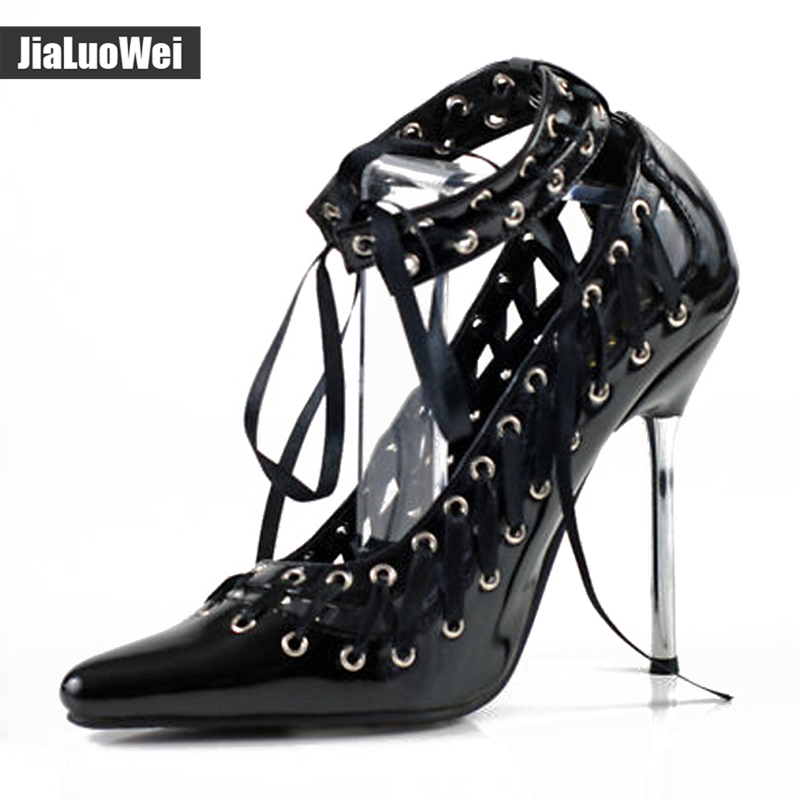 jialuowei New Summer WOMENS HIGH STILETTO HEEL LACE UP Sandals SEXY FETISH GOING OUT COURT SHOES LARGE SIZES 36-46 denim zipper hollow worn stiletto womens sandals