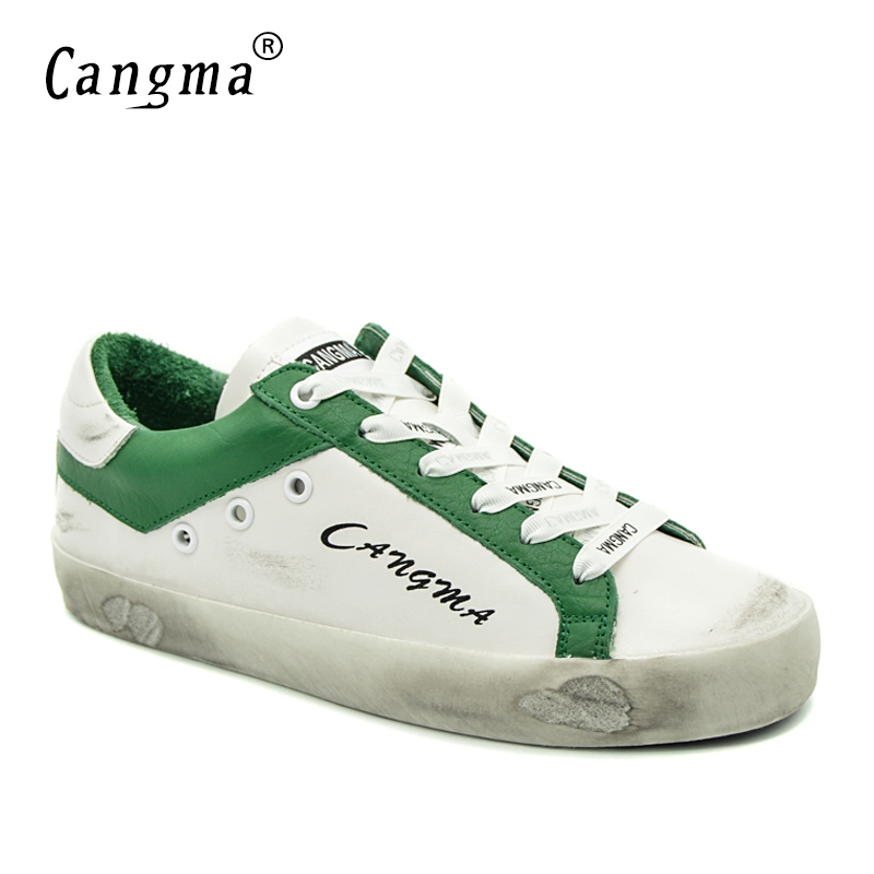 CANGMA Comfort Ladies Shoes Spring Autumn White Green Handmade Genuine Leather Women Flats Vintage Shoes Big Size Calzado Mujer green comfort ботинки green comfort модель 274885048