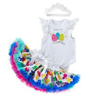 1a9941b54f84e Raisevern Baby Girls Happy Easter Day Blue Tutu Easter Eggs Dress 3PCs Per  Set Infant Love