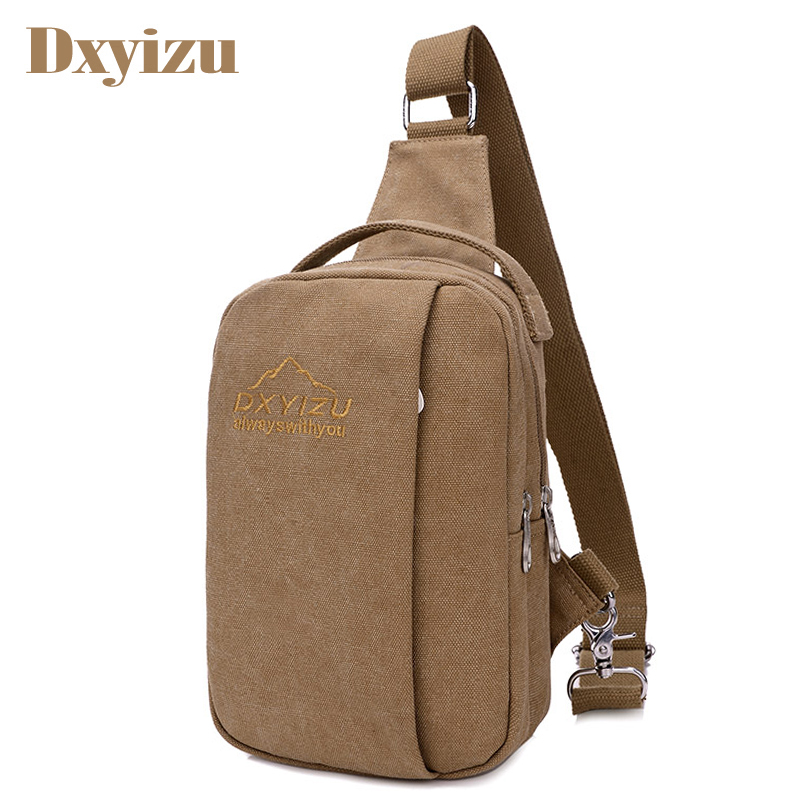 Vintage Men Messenger Bag Pillow Shape Casual Travel Rucksack Chest Bag Canvas Small Cro ...