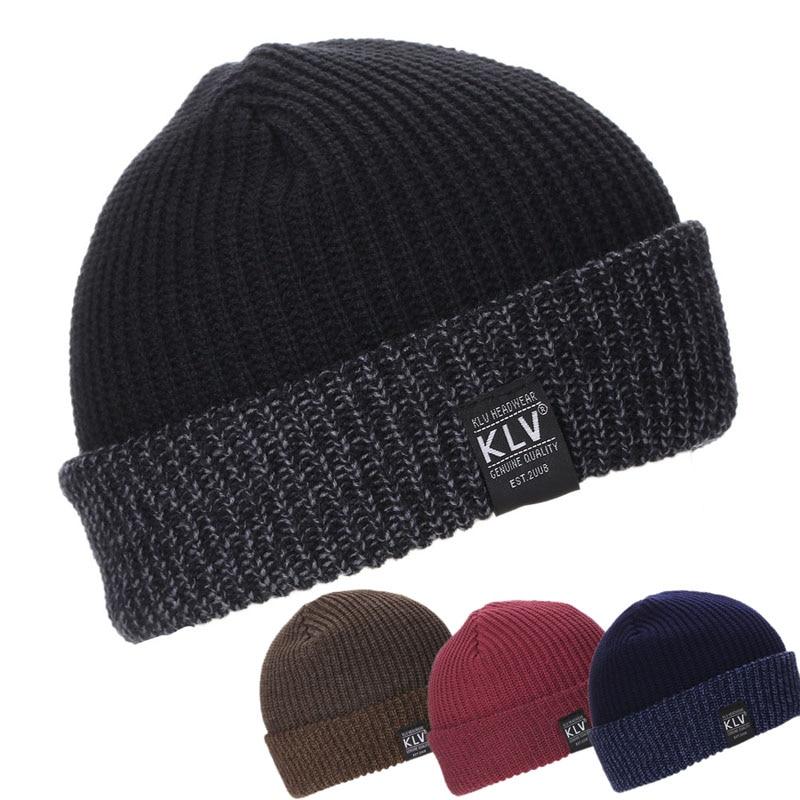Women's Mens Unisex Warm Winter Knit Hat Fashion Cap Hip-hop Ski Beanie Hat hot winter beanie knit crochet ski hat plicate baggy oversized slouch unisex cap