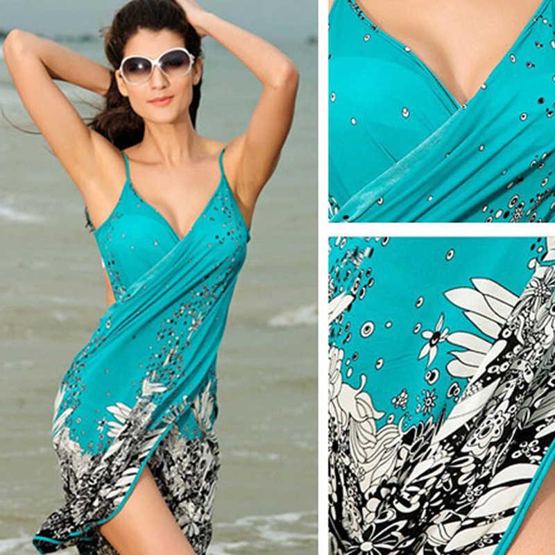 5dbcd0d57866e NEW-Women Sexy Summer Beach Dress Sarong Print Sexy Wrap Pareo Holiday  Dresses