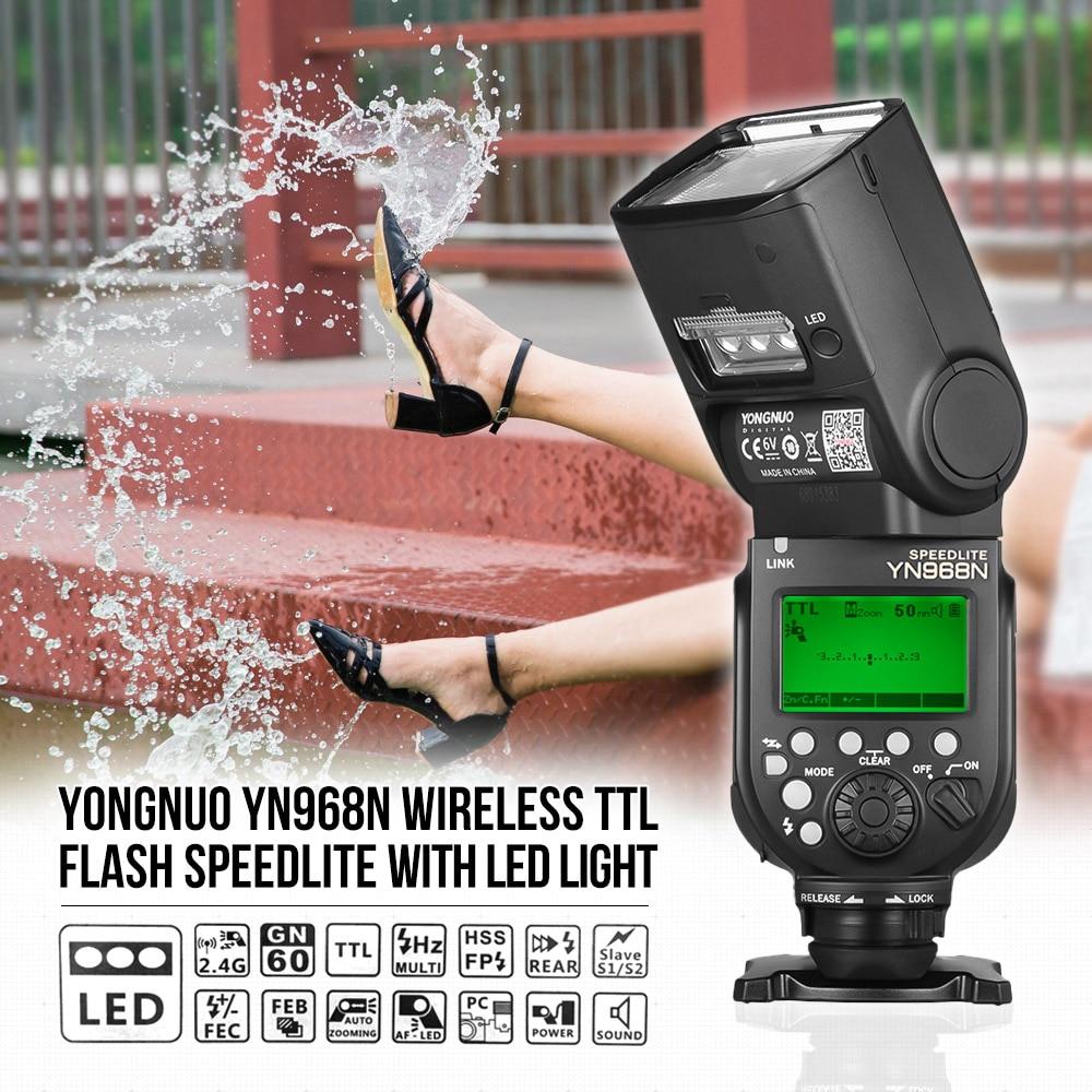 YONGNUO YN968N Wireless Flash Speedlite TTL 1 8000 Equipped with LED Light for Canon Nikon DSLR