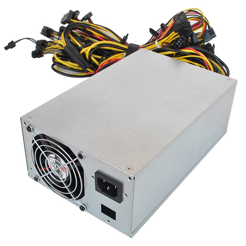 2800W Mining Power Supply Support 12/13GPU PFC Active High Efficiency Computer Power Supply For Eth Rig Ethereum Bitcoin Miner 2000w over 90% efficiency atx12v v2 31 eth coin mining miner power supply active pfc power supply for 8 graphics cards bitcoin