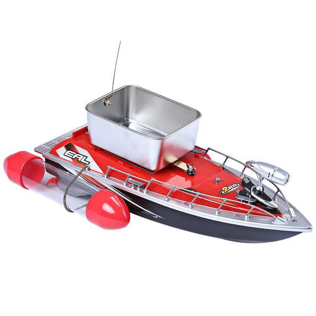 Mini RC Fishing Adventure Lure Bait Boat with EU Plug for Finding Fish Remote Control Boats
