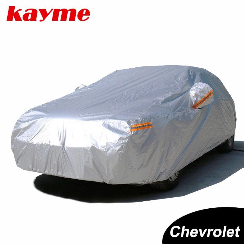 Kayme Étanche complet voiture couvre soleil poussière Pluie protection auto suv pour chevrolet cruze aveo lacetti camaro captiva epica spark