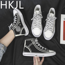 HKJL High-top canvas shoes female 2019 new Korean version of the wild board sports running Z055