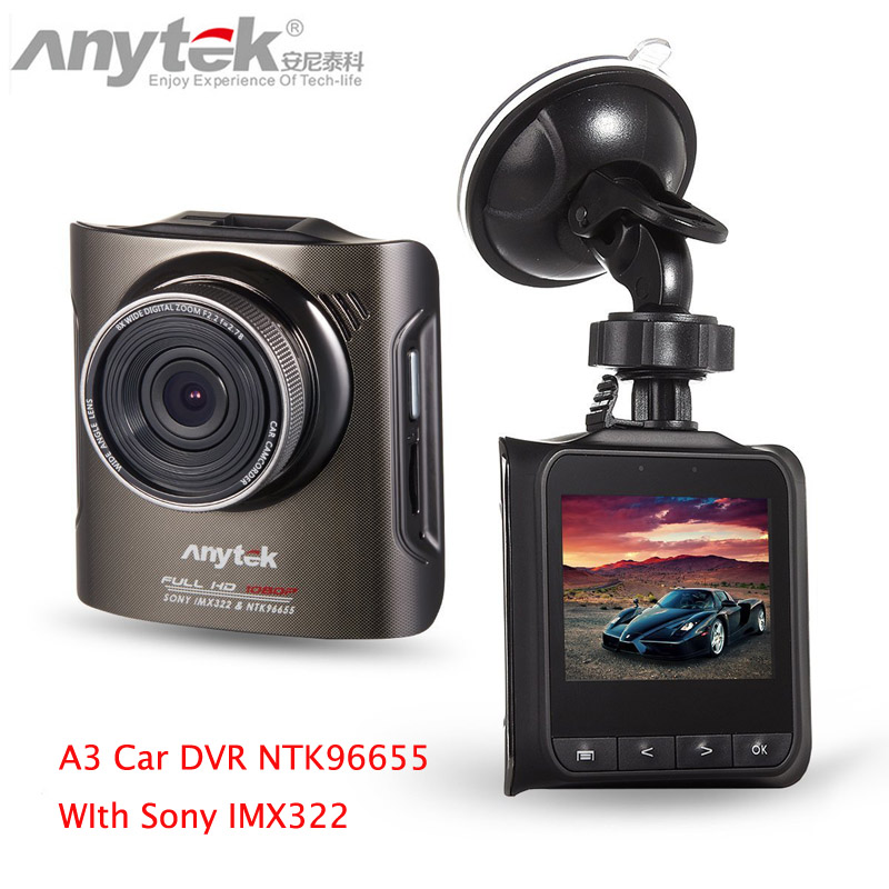 Anytek A3 Dash Camera Novatek 96655 1920x1080 For Sony IMX322 CMOS 170 wide Super Night Vision