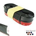 Nueva fibra de Carbono Tira Del Coche de parachoques De Goma Suave Negro 60mm Ancho 2.5 m longitud Exterior Parachoques Delantero Labio Kit/Car bumper Strip