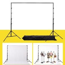 Photo Studio Background Frame Folding Tripod Stand Adjustable Photography Backdrop Support System Kit CD50