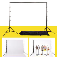 Photo Studio Background Frame Folding Tripod Stand Adjustable Photography Backdrop Support System Kit CD50