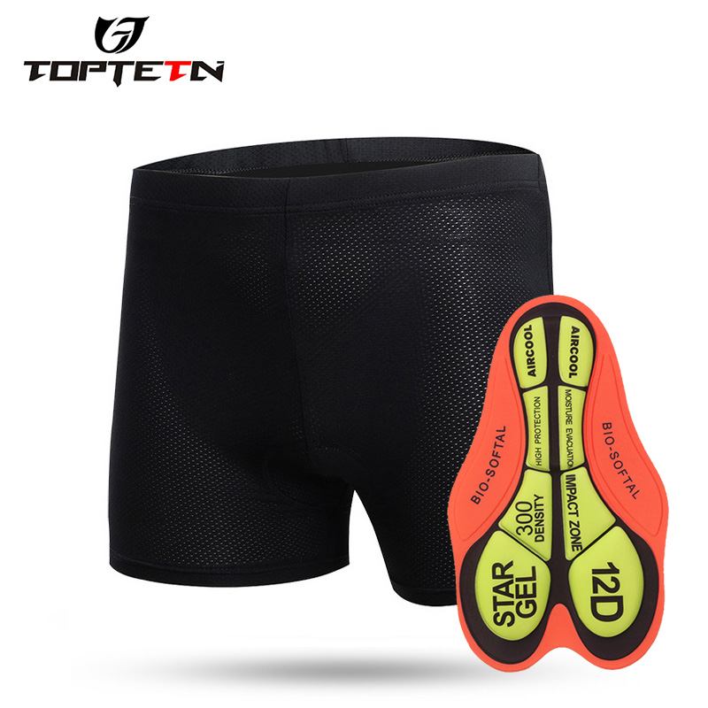 TOPTETN Cycling Bike Outdoor Sports Shorts Racing Bicycle 3D Pad Underwear Spandex Unisex Bike Cycle Shorts Equipment