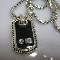Мужские ювелирные изделия из чистого серебра, перламутровое ожерелье с собачьей биркой, женский 925 металлический браслет черный оникс ожер