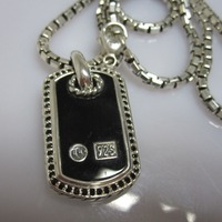 Solid Sterling Silver Men's Jewelry Mother of Pearl Dog Tag Necklace Woman 925 Silver Black Onyx Pendant Necklace Unisex