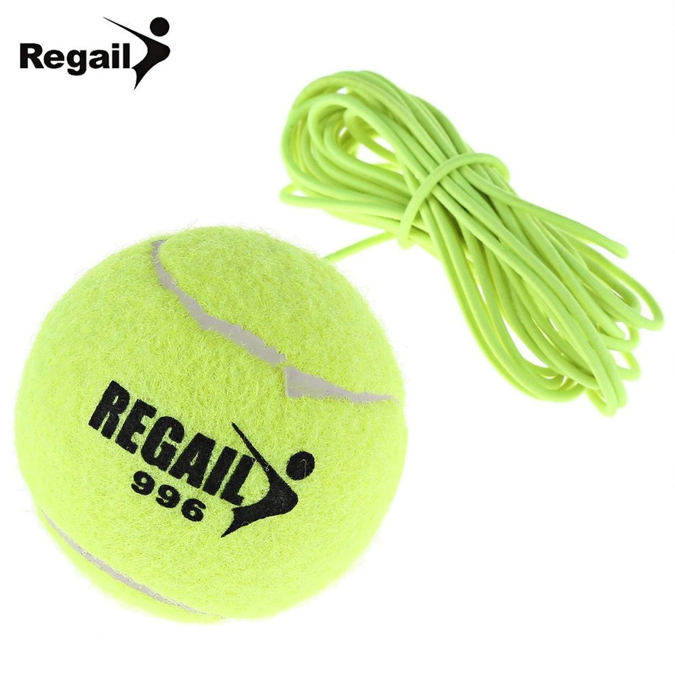 New Single Package Drill Exercise Resiliency Tennis Balls Trainer With String Replacement Rubber Woolen Neon Green