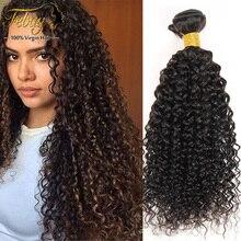 7A Peruvian Curly Weave Human Hair Extension 4 Bundles Unprocessed Human Hair Weave Bundles Peruvian Kinky Curly Virgin Hair