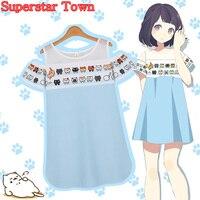 Korean Neko Atsume Dress Summer Dresses Kawaii Lolita Clothing Fresh Patchwork Straight Vestido Sweet Mori Girl