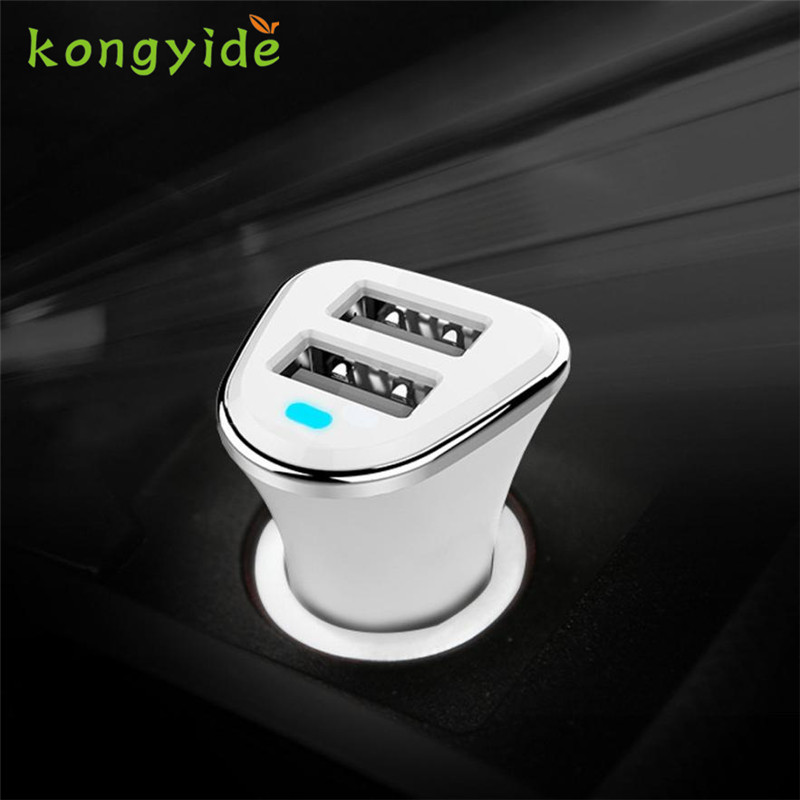 2018 hot sale car-charger Cargador 2.1A Fast Charging Dual USB Ports Car Charger For Smart Phone Tablets Auto 18Jun 7