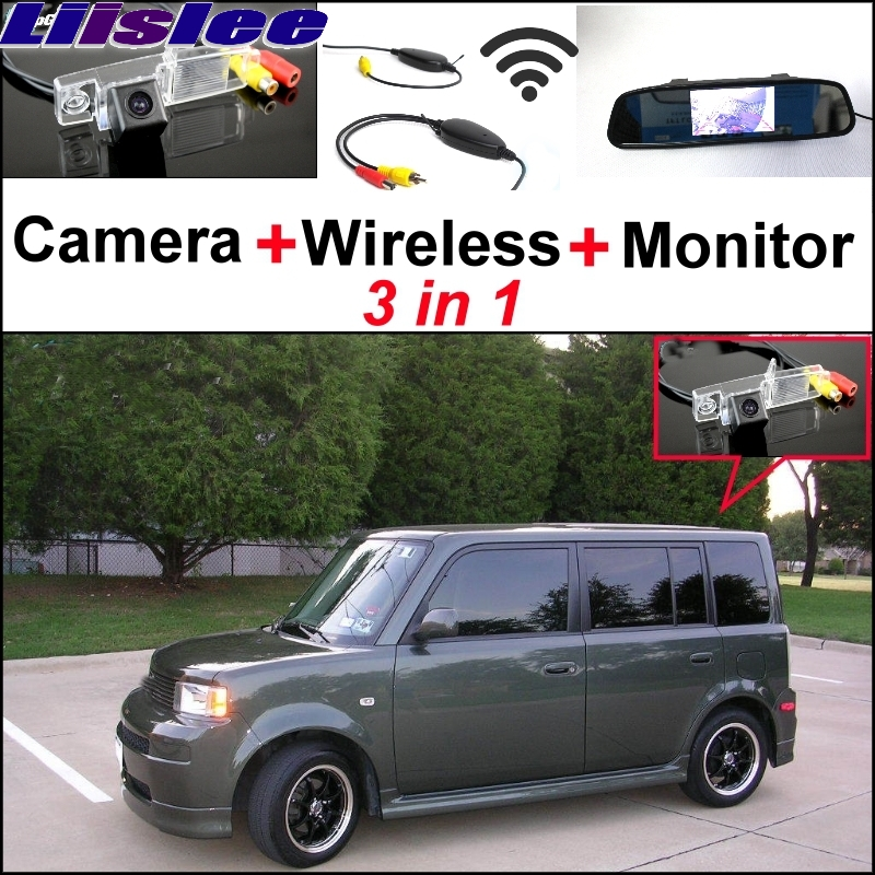 Liislee Special Rear View Camera Wireless Receiver + Mirror Monitor 3 in1 Easy Backup Parking System For Scion XB MK1 2003~2007 wireless pager system 433 92mhz wireless restaurant table buzzer with monitor and watch receiver 3 display 42 call button