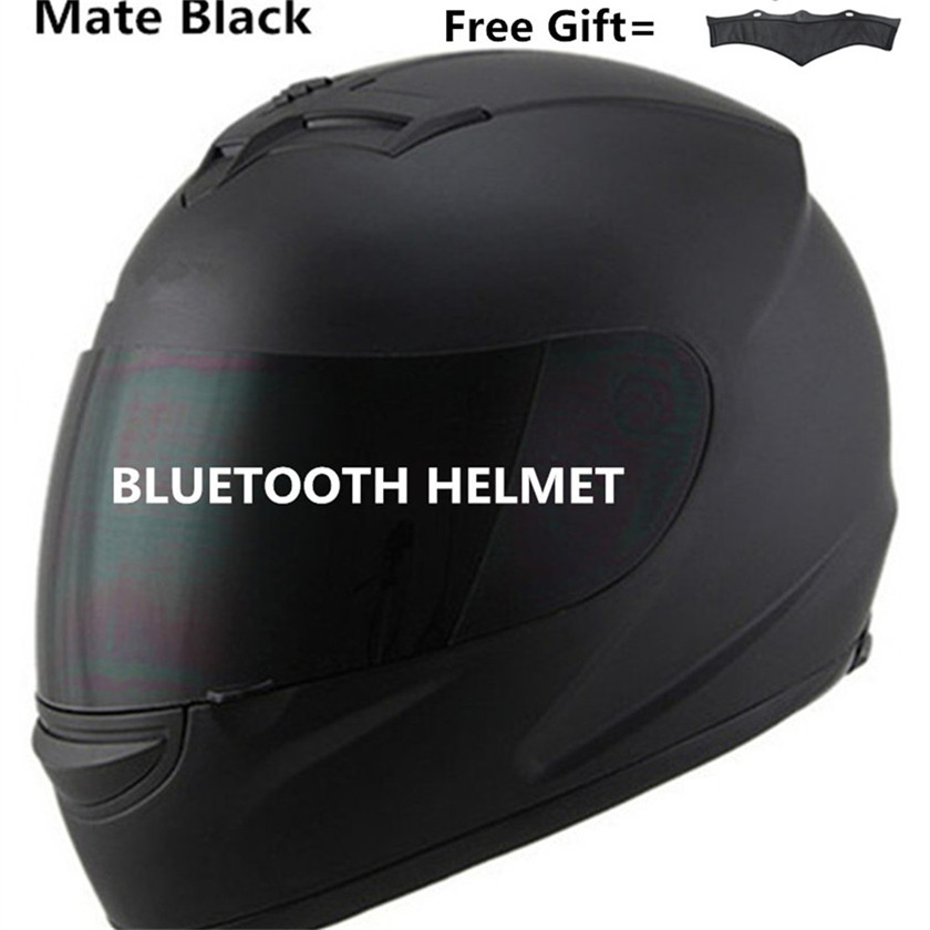 Unisex-Adult's Full-Face Style Bluetooth Integrated Motorcycle Helmet with Graphic (Matte Black, SMALL) цены
