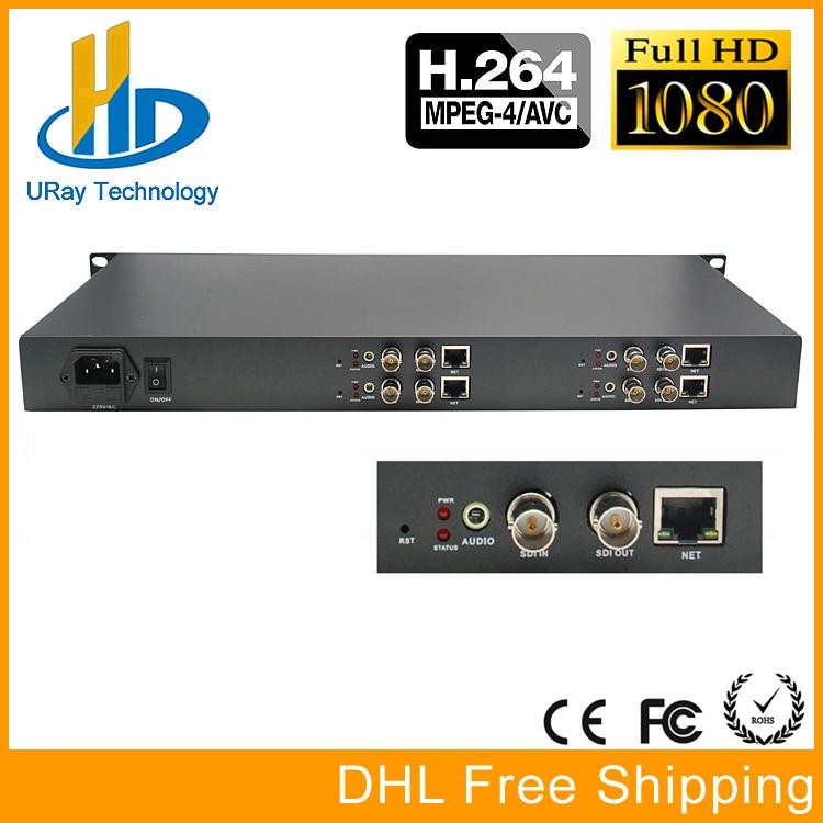 1U 4 Channels H.264 SD HD 3G SDI To IP Video Streaming Encoder H264 RTSP RTMP Encoder For IPTV, Live Streaming Broadcast, Server hd h 265 hevc avc 1u 4 channels hdmi dvb t encoder modulator for ip stream to vlc media server xtream codes