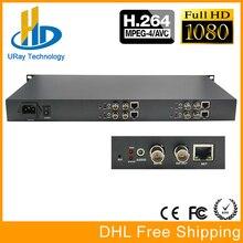 1U 4 Channels H.264 SD HD 3G SDI To IP Video Streaming Encoder H264 RTSP RTMP Encoder For IPTV, Live Streaming Broadcast, Server