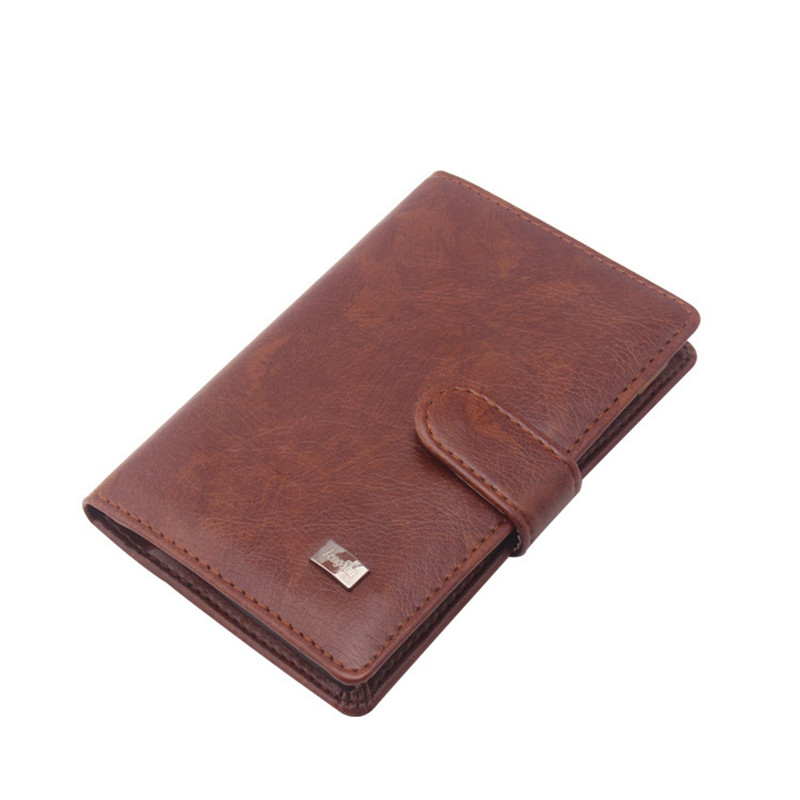 Leather Passport Cover Men Travel Wallet ID Business Credit Card Holder Cover Pouch Russian Driver License Wallet Document Case
