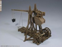 Classic ancient chariots The Age of empires model kits Trebuchet Heavy catapult model